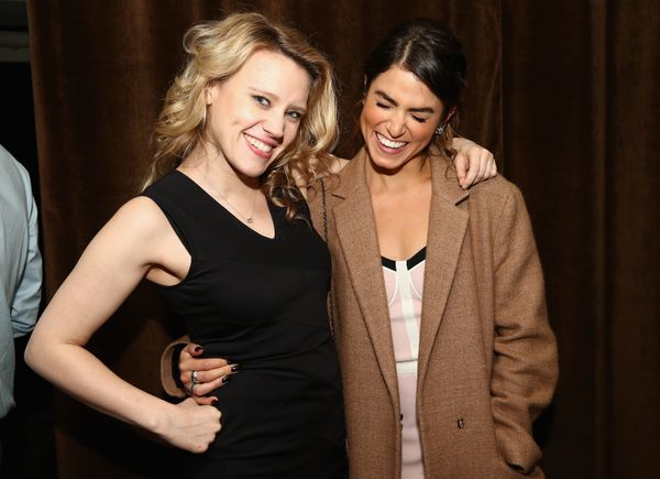 """Kate McKinnon and Nikki Reed attend the """"Intramural"""" premiere after party during the 2014 Tribeca Film Festival at Neuehouse"""