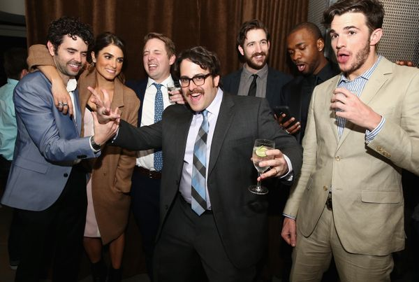 "Nick Rutherford, Nikki Reed, Beck Bennett, director Andrew Disney, Brian McElhaney, Jay Pharoah and Nick Kocher attend the ""I"