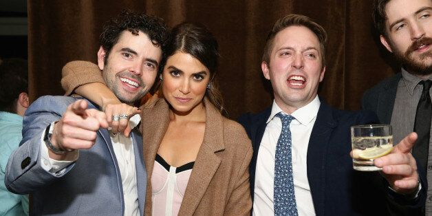 NEW YORK, NY - APRIL 21:  (L-R) Actors Nick Rutherford, Nikki Reed and Beck Bennett attend the 'Intramural' Premiere after pa