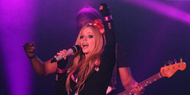 SEOUL, SOUTH KOREA - FEBRUARY 19:  Avril Lavigne performs live at Olympic Hall on February 19, 2014 in Seoul, South Korea.  (