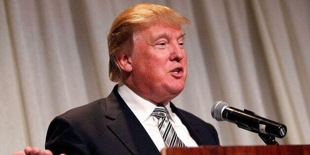 WASHINGTON, DC - OCTOBER 22:  Joseph Wharton Award Honoree Donald J. Trump, Chairman & President, The Trump Organization, spe