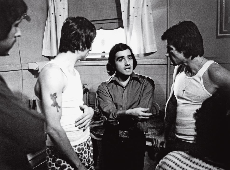 "Scorsese directs Robert De Niro (left) and Harvey Keitel  (right) in ""Mean Streets."""