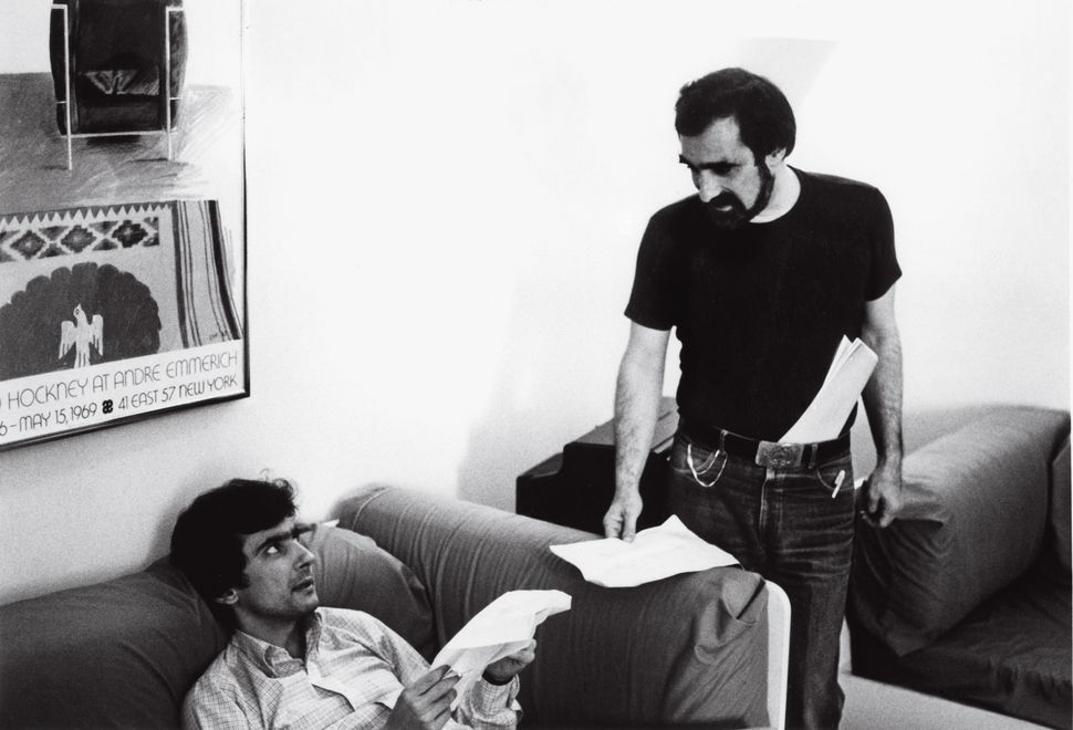 "Martin Scorsese with Griffin Dunne in ""After Hours."""