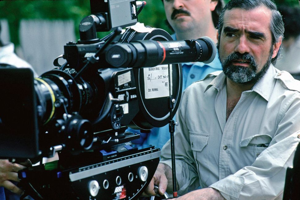 "Scorsese on the set of ""Goodfellas."""