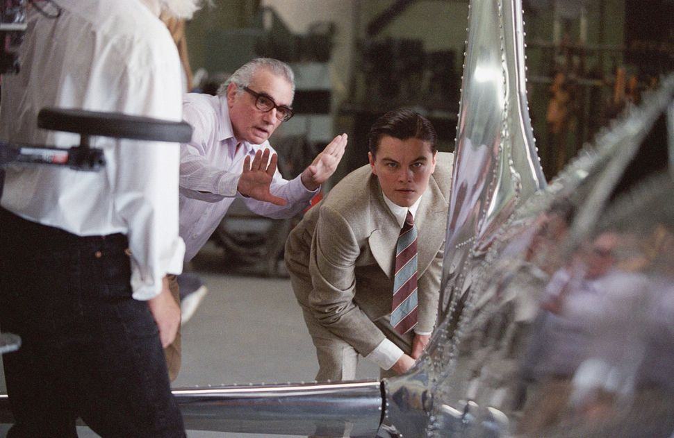 "Martin Scorsese directs Leonardo DiCaprio in ""The Aviator."""
