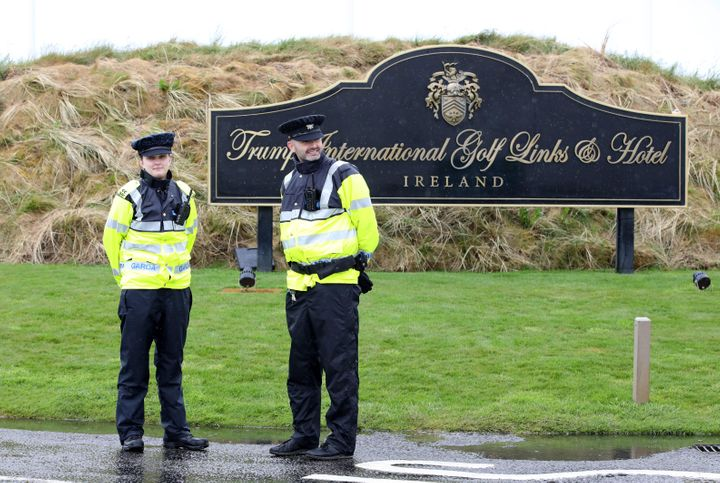 Security is tightened at Trump's golf course in Ireland.