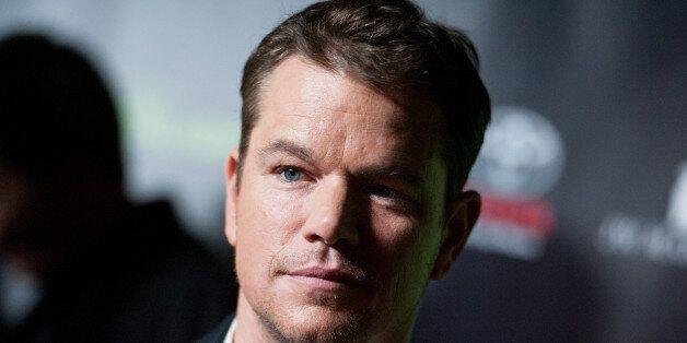 Matt Damon arrives at Project Greenlight Season Four Winner Revealed on Friday, Nov 07, 2014, in Los Angeles. (Photo by Richa