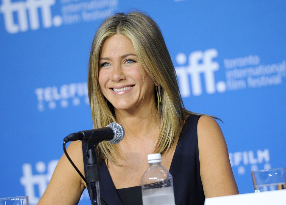 "Jennifer Aniston attends the press conference for ""Cake"" on day 6 of the Toronto International Film Festival at the TIFF Bell"