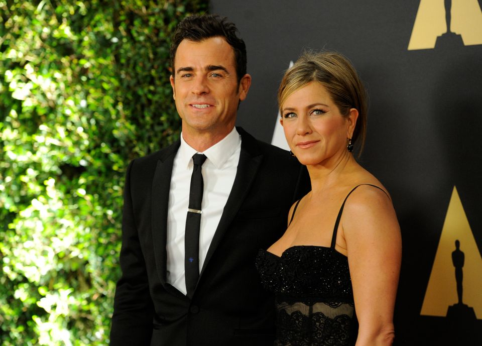 Justin Theroux, left, and Jennifer Aniston arrive at the 6th annual Governors Awards at the Hollywood and Highland Center on