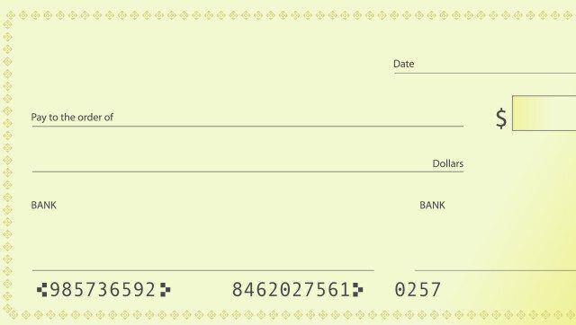 bank check illustration...