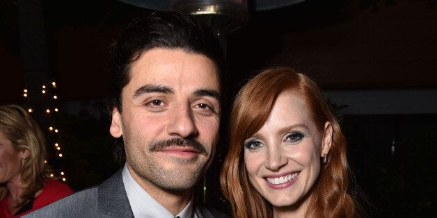 """Oscar Isaac and Jessica Chastain attend the 2014 AFI Fest - """"A Most Violent Year"""" after party at the Roosevelt Hotel on Thurs"""
