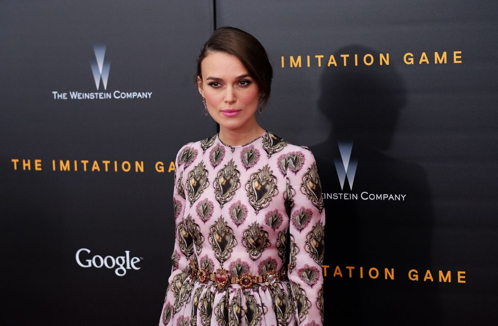 """Keira Knightley earned high marks for her lead roles in """"Begin Again"""" and """"Laggies,"""" but it's her turn as WWII code-breaker J"""
