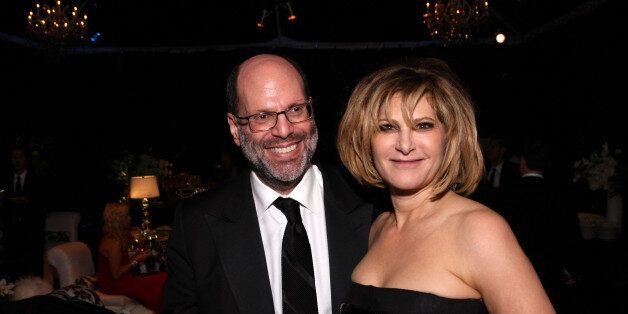 BEVERLY HILLS, CA - JANUARY 16:  (L-R) Producer Scott Rudin and Sony Pictures Entertainment Co-Chairman Amy Pascal attend the