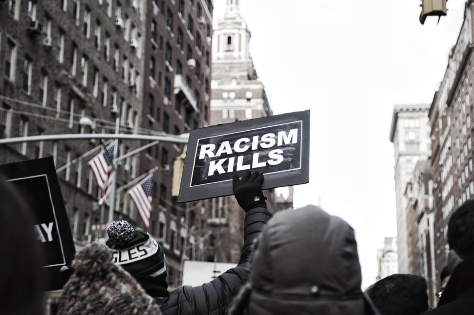 Thousands gather in Washington Square park in New York City on Saturday, Dec. 13, 2014.