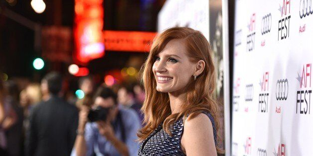 "Jessica Chastain arrives at 2014 AFI Fest - ""A Most Violent Year"" at the Dolby Theatre on Thursday, Nov. 6, 2014, in Los Ange"