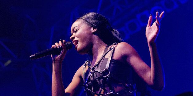 BERLIN, GERMANY - SEPTEMBER 26: American singer Azealia Banks performs live during a concert at the Huxleys on September 26,