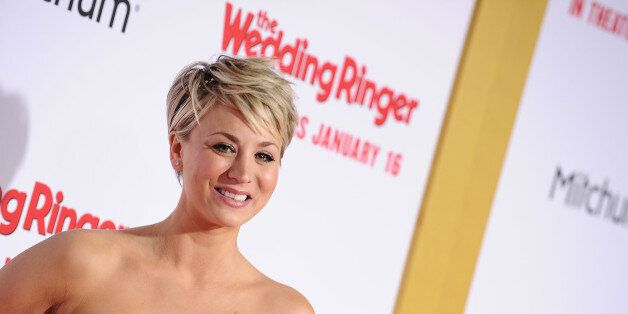 HOLLYWOOD, CA - JANUARY 06:  Actress Kaley Cuoco attends the premiere of 'The Wedding Ringer' at TCL Chinese Theatre on Janua