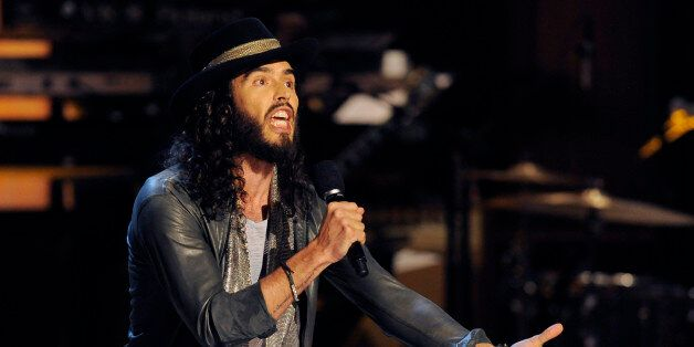 """Russell Brand performs at """"Eddie Murphy: One Night Only,"""" a celebration of Murphy's career at the Saban Theater on Saturday,"""
