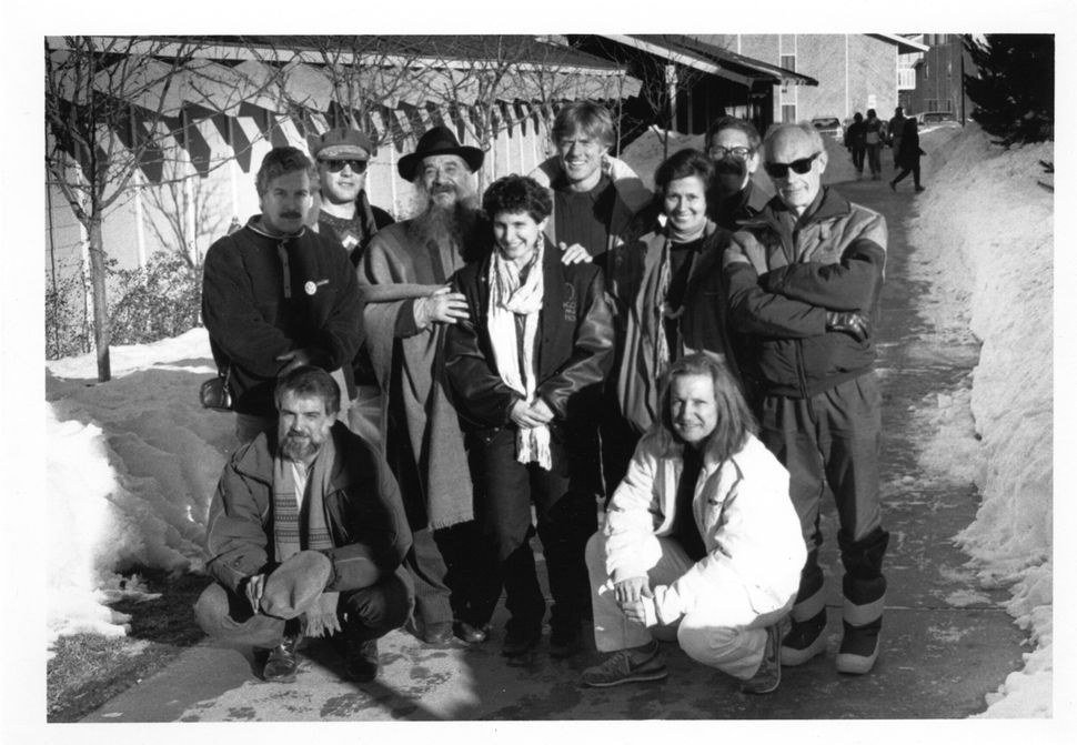 """1989: Robert Redford with delegation for """"Dangerous Loves"""" series."""