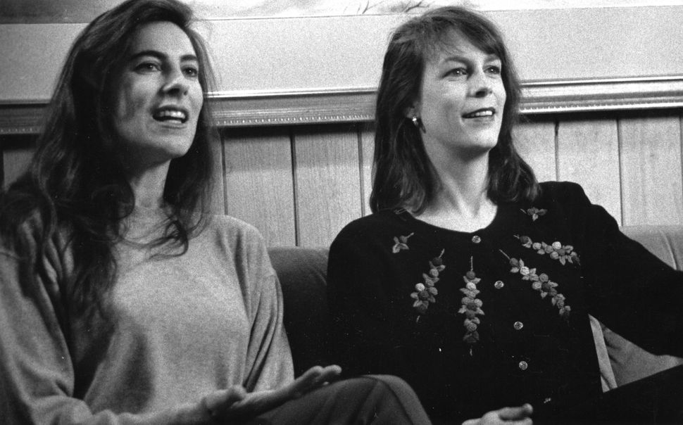"""1990: Kathryn Bigelow and Jamie Lee Curtis at Sundance for """"Blue Steel."""""""