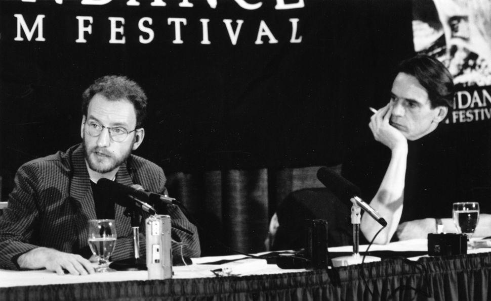 "1992: Steven Soderbergh and Jeremy Irons at Sundance for ""Kafka."""