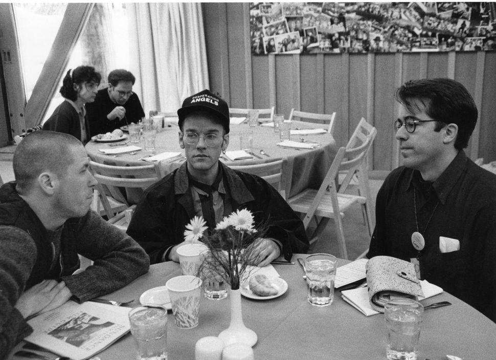 1992: Michael Stipe and Sundance festival director John Cooper