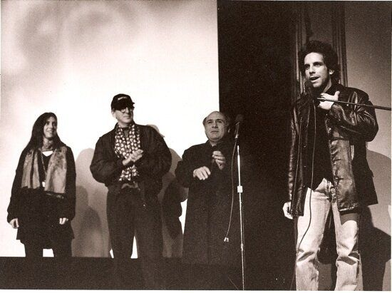 """1994: Ben Stiller and Danny DeVito at Sundance for the debut of """"Reality Bites."""""""