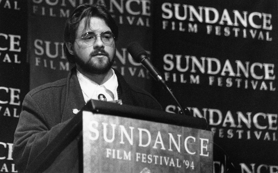 """1994: Kevin Smith at Sundance for the debut of """"Clerks."""""""