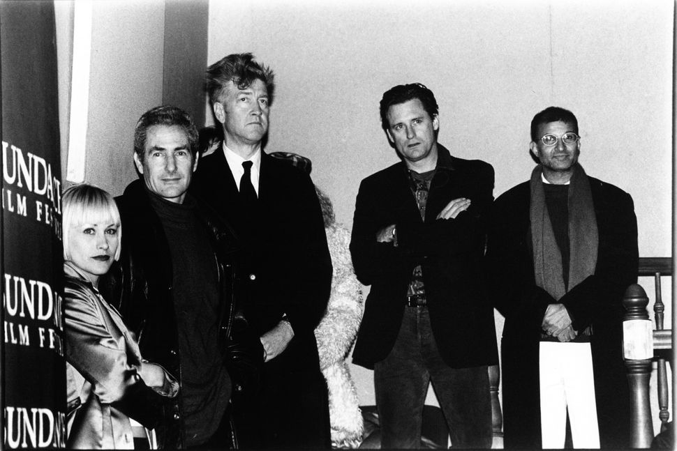 """1997: David Lynch and the cast of """"Lost Highway."""""""