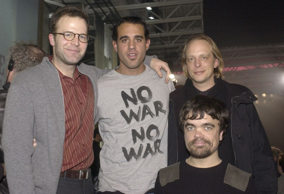 """2003: Tom McCarthy, Bobby Cannavale, Oliver Bokelberg and Peter Dinklage for the premiere of """"The Station Agent."""""""
