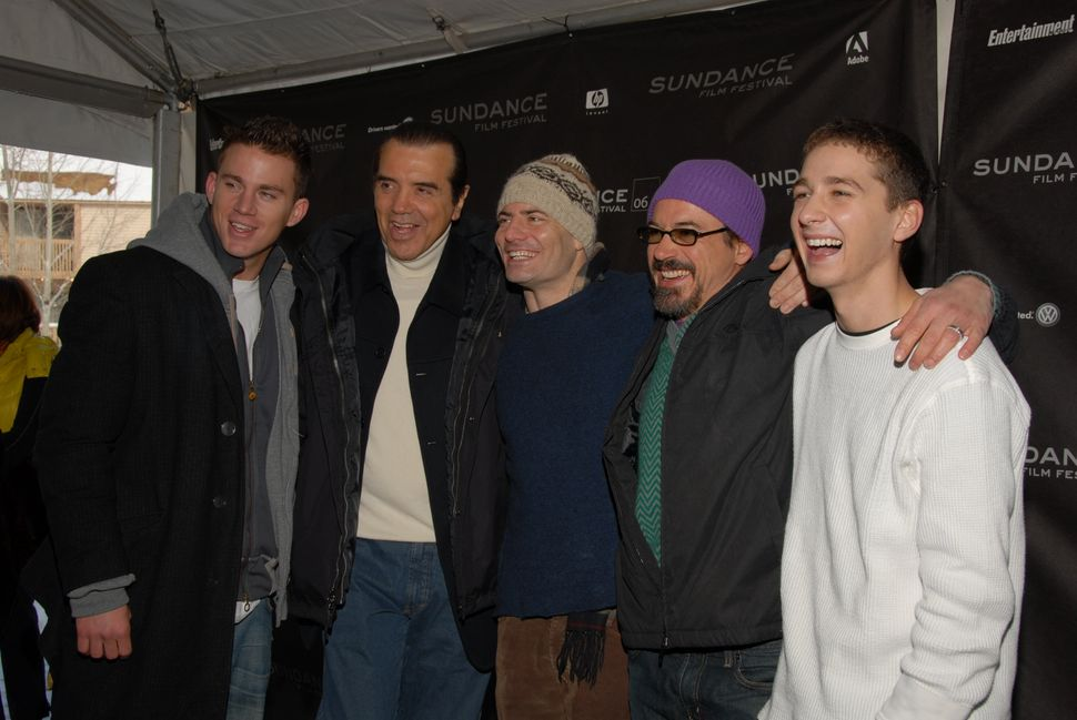 """2006: Channing Tatum, Chazz Palminteri, Dito Montiel, Robert Downey Jr. and Shia LaBeouf at the premiere of """"A Guide to Recog"""