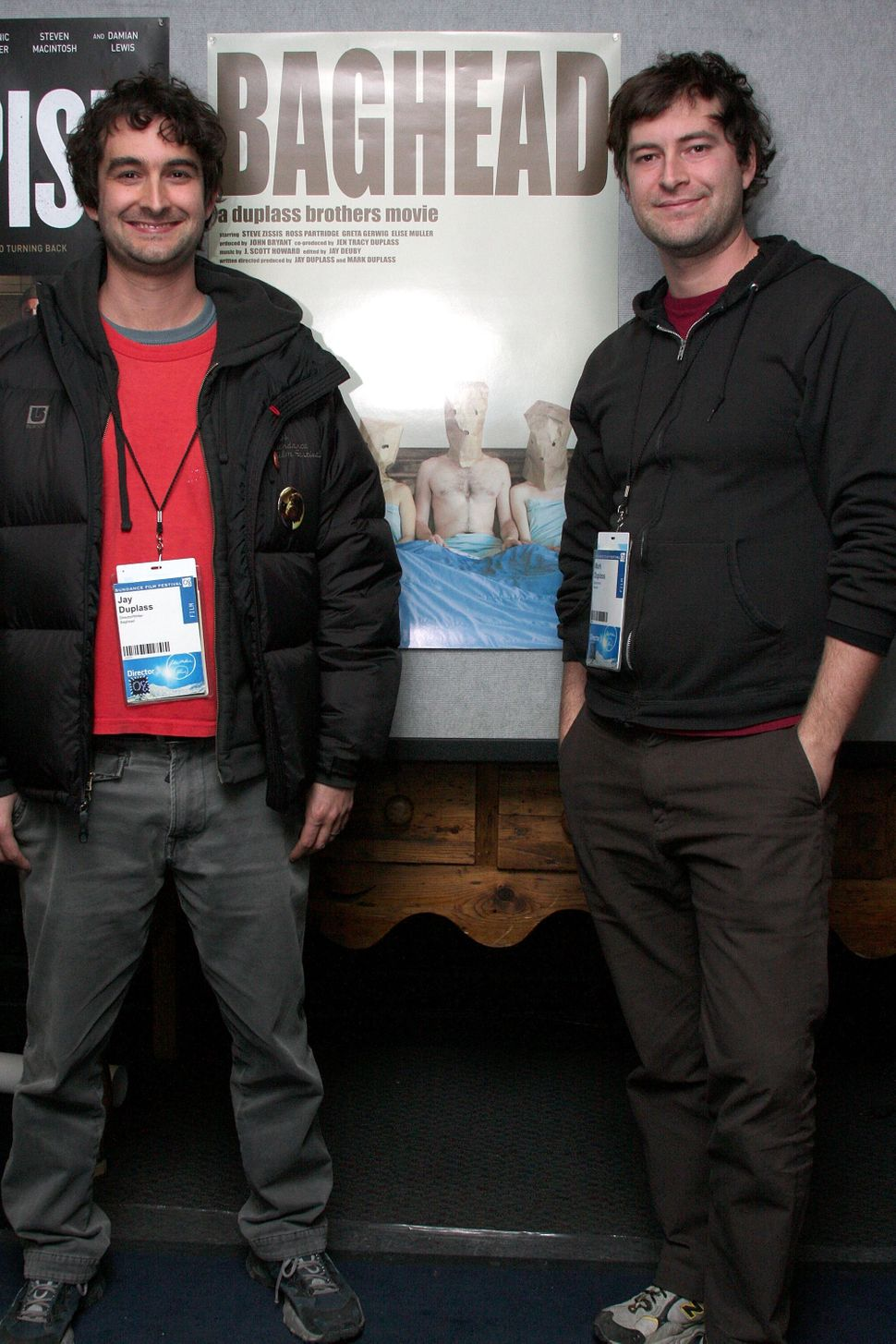 """2008: Jay and Mark Duplass at Sundance for the premiere of """"Baghead."""""""