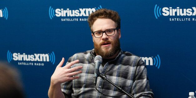 NEW YORK, NY - DECEMBER 15:  Seth Rogen takes part in a SiriusXM Town Hall with Seth Rogen and James Franco with host Lisa La