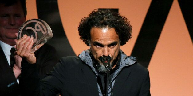 LOS ANGELES, CA - JANUARY 24:  Producer/director Alejandro Gonzalez Inarritu accepts the Outstanding Producer of Theatrical M
