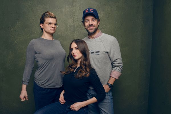 """""""Sleeping with Other People"""" director/writer Leslye Headland and stars Alison Brie and Jason Sudeikis."""