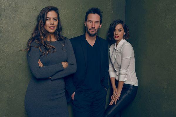 """Knock Knock"" stars Keanu Reeves, Lorenza Izzo and Ana de Armas."