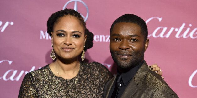 Ava DuVernay, left, and David Oyelowo arrive at the 26th annual Palm Springs International Film Festival Awards Gala on Satur