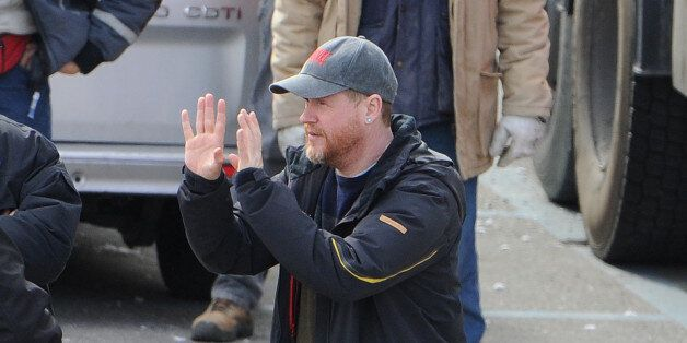 AOSTA, ITALY - MARCH 24: Joss Whedon is seen filming on location for 'Avengers: Age of Ultron' on March 24, 2014 in Aosta, It