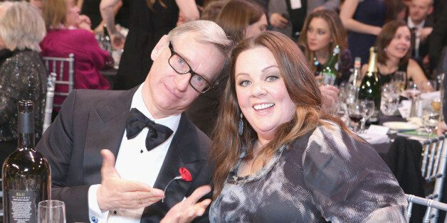 SANTA MONICA, CA - JANUARY 16:  Director Paul Feig and actress Melissa McCarthy with Champagne Nicolas Feuillatte at the 19th