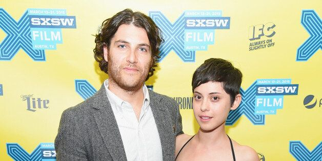 AUSTIN, TX - MARCH 13:  Actors Adam Pally and Rosa Salazar attend the 'Night Owls' premiere during the 2015 SXSW Music, Film
