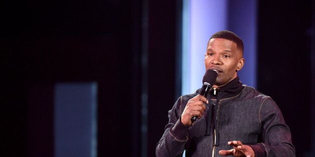 LOS ANGELES, CA - MARCH 29: Host Jamie Foxx speaks onstage during the 2015 iHeartRadio Music Awards which broadcasted live on NBC from The Shrine Auditorium on March 29, 2015 in Los Angeles, California. (Photo by Kevin Winter/Getty Images for iHeartMedia)