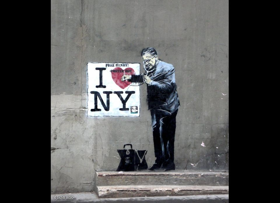 International man of mystery, Banksy, managed to hit up a number of cities across the US this year in what appeared to be a c