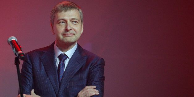 Russian businessman and President of AS Monaco football club, Dmitry Rybolovlev  poses during the celebration of the AS Monac