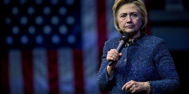 Hillary Clinton, former Secretary of State and 2016 Democratic presidential candidate, pauses while speaking during a campaig