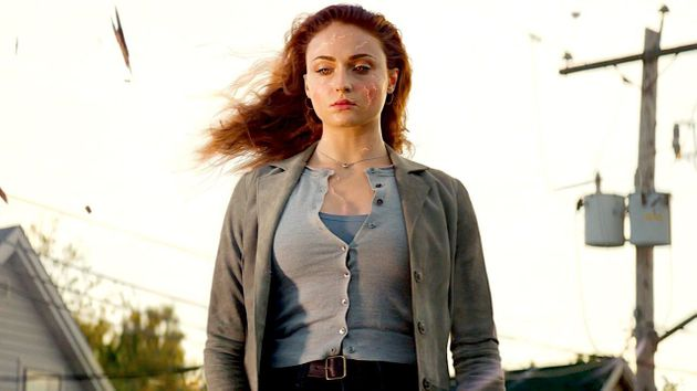 Sophie Turner como Jean Grey/Fênix Negra no filmeX-Men: Fênix