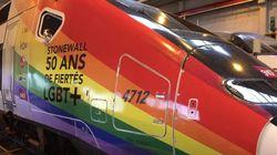 Un TGV aux couleurs arc-en-ciel pour célébrer le mois des