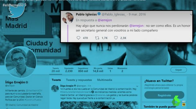Los antiguos tuits de Iglesias recuperados por Dani Mateo que demuestran que Echenique NO debería estar...