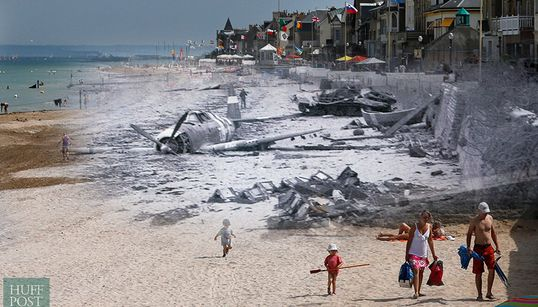 11 Incredible Images That Show The D-Day Landing Beaches Then And