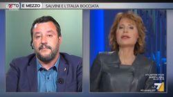 Lo scontro infinito tra Gruber e Salvini: