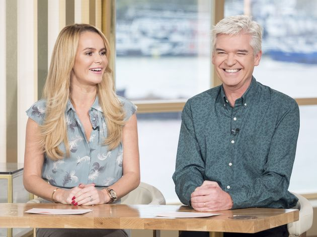 Amanda Holden and Phillip Schofield on This Morning in